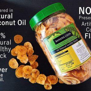 Ripened Banana Crunchy Chips 400 gms by My Village Kerala Ad