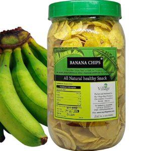 Un-Ripened Banana Crunchy Chips 400 gms by My Village Kerala