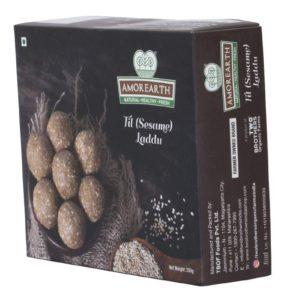 Til Sesame Gur Laddu Naturally Sweetened 250 grams by TBOF Side