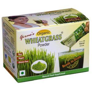Organic Wheatgrass Powder Single Sachet Pack by Girmes
