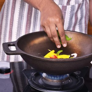 Cast Iron Kadhai Wok for Cooking by Indus Valley