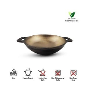 Cast Iron Kadhai Wok for Cooking by Indus Valley features